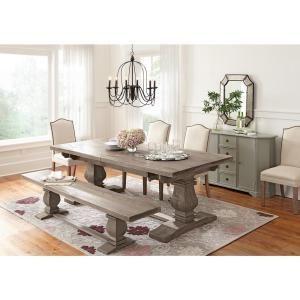 Home Decorators Collection Aldridge Antique Grey Extendable Dining