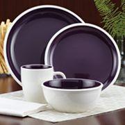 Rachael Ray Rise 16 Pc Dinnerware Set Dinnerware Set Purple
