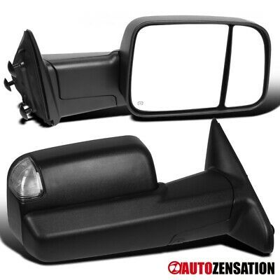 Power Heated clearance Puddle Auxiliary Signal Tow Mirrors For 04-2014 Ford F150