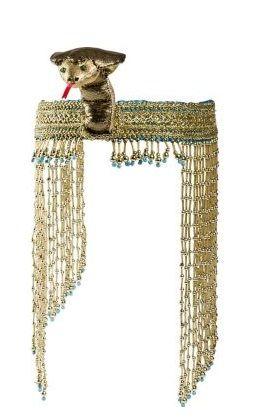 Womens Ancient Egyptian Pharoah Snake Headband Costume Accessory