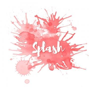 2020 的 Red Watercolor Splash Splatter Background Red Color