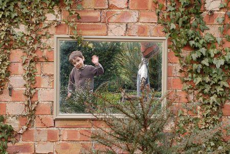 Add a mirror to a child's garden