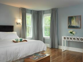 Interesting Blue And Gray Curtains And Gray Curtains Blue Walls