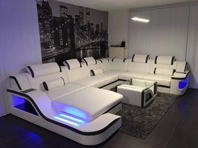 Die Xxl Wohnlandschaft Palermo Wurde Von Unserem Kunden In Einem Strahlend Leuchtenden Luxury Sofa Design Furniture Design Living Room Living Room Sofa Design