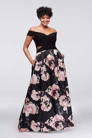 View Long Xscape Dress At David S Bridal Plus Size Prom Dresses Plus Size Wedding Guest Dresses Casual Wedding Guest Dresses