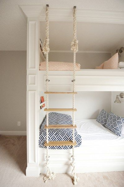 With lots of littles around the house, two beds are definitely better than one. Thinking outside the box (err…frame), creative furniture designers and a few ingenious moms and dads have elevated bunk beds to a whole new level of cool. Suspended from ropes, wrapped in fabric, or decorated in vibrant hues, these innovative designs are perfect for sleeping multiples in style or hosting slumber...