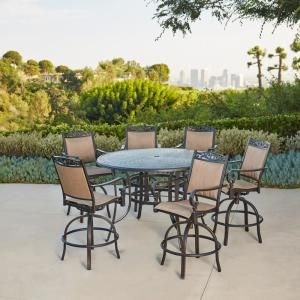 Patio Furniture Outdoors The Home Depot In 2020 Bar Height Patio Set Patio Dining Furniture Outdoor Patio Table