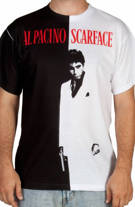 Scarface Movie Tony Cocaine Desk SIT BACK Adult Long Sleeve T-Shirt S-3XL