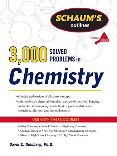 Ebooks Download 3 000 Solved Problems In Chemistry R A R Chemistry Book Study Books