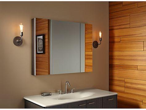 K 99010 Verdera Medicine Cabinet With Triple Mirrored Doors