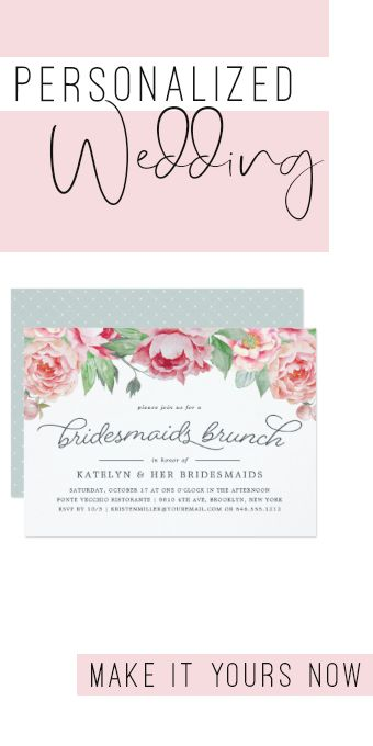 Antique Peony Bridesmaids Brunch Invitation #blushand #watercolor #pink #blushpink #typography