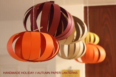 DIY Paper globes/pumpkins