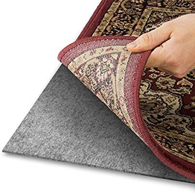 Amazon Com Alpine Neighbor 8 Feet By 10 Feet Rug Pad With Grip Tight Technology Grey Kitchen Dining Felt Cushion Area Rug Pad Rug Pad