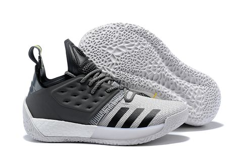 "8106db55d129 2018 adidas Harden Vol. 2 ""Concrete"" Grey Black-White AH2122"