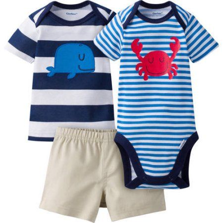 *NWT BABY BOY/'S 3-PC ASSORTMENT OUTFIT SET GERBER