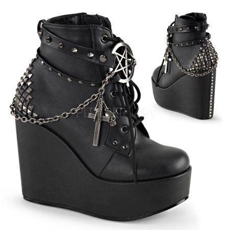 Demonia Gothic Boots and Shoes for sale with great selection at great prices. Gothic shoes, Platform boots, biker boots, combat boots, Victorian & Steampunk shoes for men and women. Black Lace Up Boots, Studded Ankle Boots, Platform Ankle Boots, Lace Up Ankle Boots, Black High Heels, Wedge Boots, High Heel Boots, Leather Ankle Boots, Heeled Boots