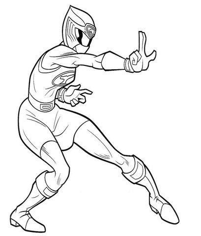 Ranger Pink Coloring Page Power Rangers Tempestade Ninja Power