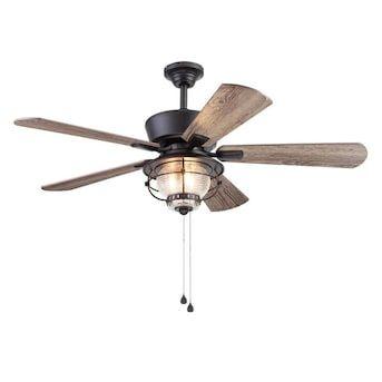 Harbor Breeze Merrimack Ii 52 In Bronze Led Indoor Outdoor Ceiling Fan 5 Blade Lowes Com In 2020 Ceiling Fan With Light Outdoor Ceiling Fans Ceiling Fan