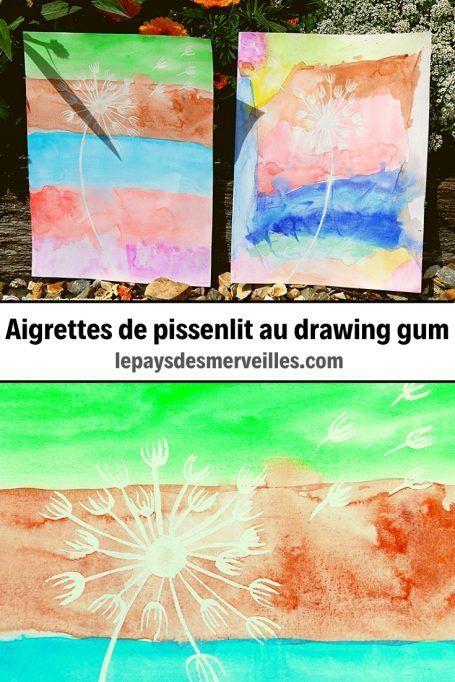 Pissenlit Au Drawing Gum Et A La Peinture Aquarelle Peinture