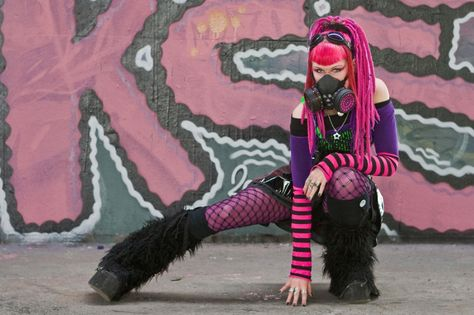 Pink and Black CyberGoth