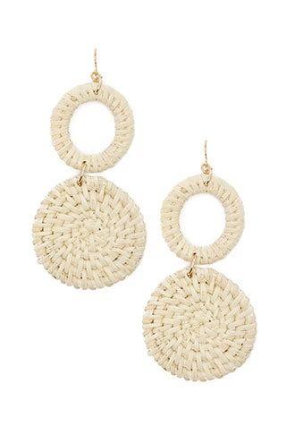 6125fccc7 Tiered Wicker Drop Earrings | Products | Earrings, Drop earrings ...