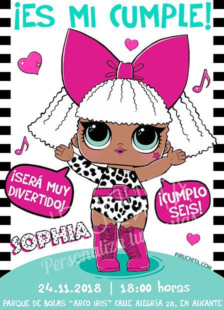 Invitación Cumpleaños Lol Surprise Muñecas 04 Digital