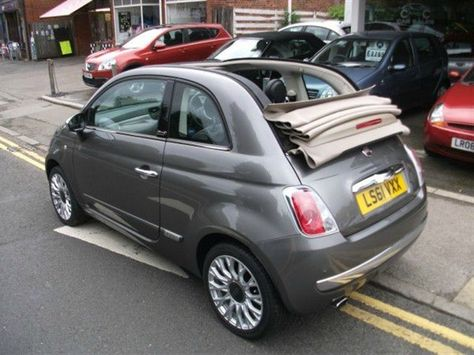 Grey With Red Roof Fiat 500 Sale Google Search Fiat 500 Fiat