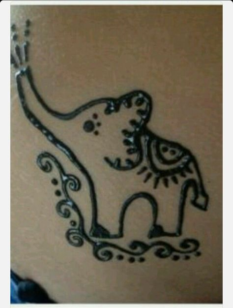 Cute elephant henna