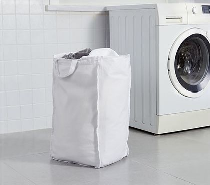 Essential Dorm Room White Suprima Large Laundry Clothes Bag Must