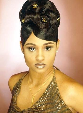 Black Updos 017 Black Hair Updo Hairstyles Black Women Updo Hairstyles Black Hair 90s