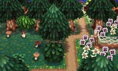 Near The Campsite In The Forest Where The Fairies Are Most Abundant Motifs De Sol Animal Crossing Astuce Animals Crossing