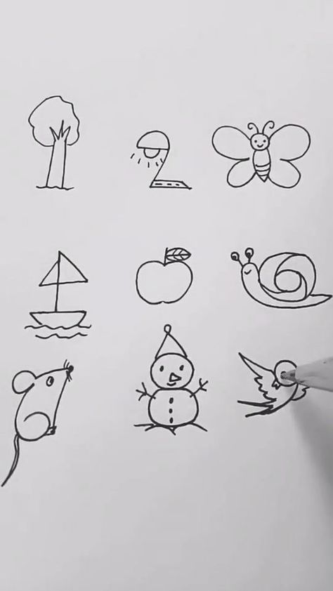 Interesting easy drawing ideas tutorial for numbers, Let's kids try it!!!!  #dra... #dra #Drawing #Easy #easydrawings #ideas #interesting #kids #Lets #numbers #Tutorial