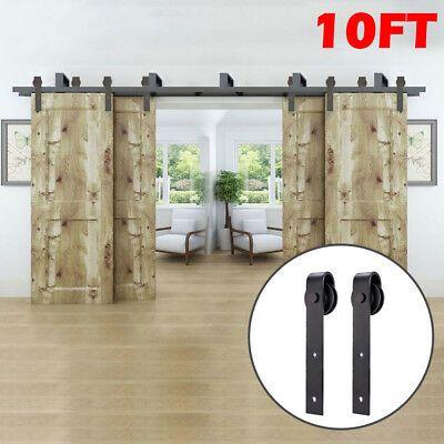 Door Type For Bypass 4 Doors Bypass Bracket 5 High Quality Bearing Sliding More Smoothly 15 X Wall Hanger Wood Doors Door Hardware Sliding Barn Door Track