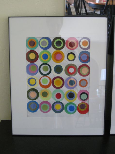paint chip art part I — circles