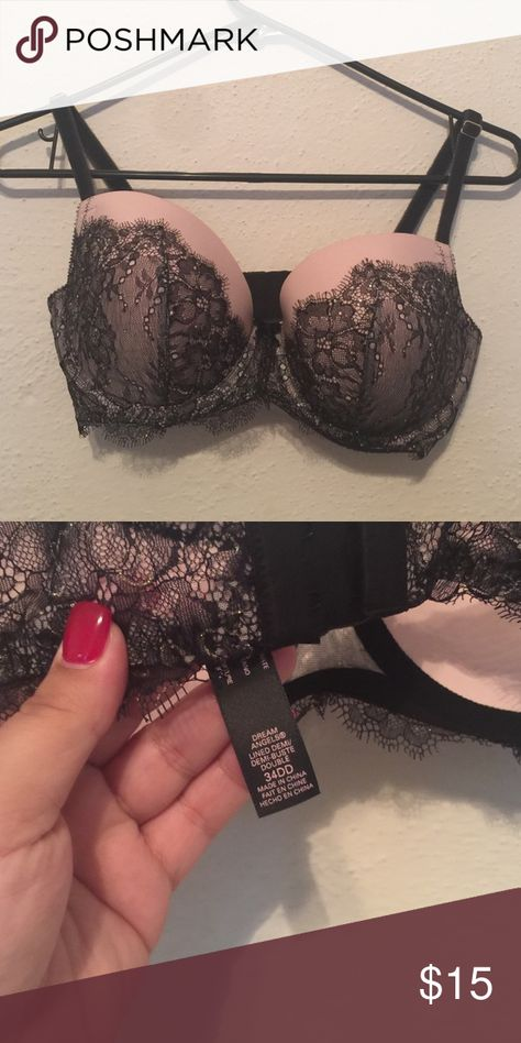 VS 34DD Bra 34DD Bra Victoria Secret. Dream Angels. Lined Demi. Victoria's Secret Intimates & Sleepwear Bras