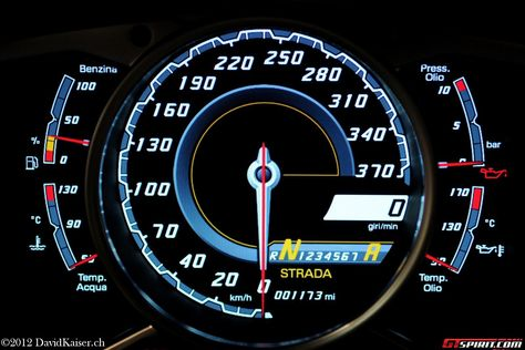 Batman's Lamborghini Aventador, with a speedometer like this ... You'll never catch me lol
