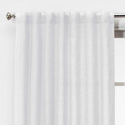 Linen Light Filtering Curtain Panels Threshold White Paneling Linen Lights Panel Curtains