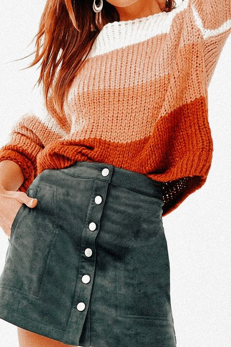 Casual School Outfits, Teenage Outfits, Cute Comfy Outfits, Cute Fall Outfits, Stylish Outfits, Cute Outfits For Teens, Fall Skirt Outfits, Back To School Outfits Highschool, Casual Dresses