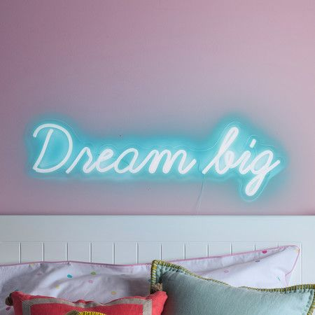 Dream Big Neon Sign Wall Light Neon Signs Neon Sign Bedroom Neon Lights Bedroom