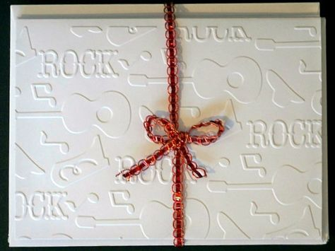 Guitar Stationery Set - Rock and Roll Gift Set  by AuriesDesigns.etsy.com