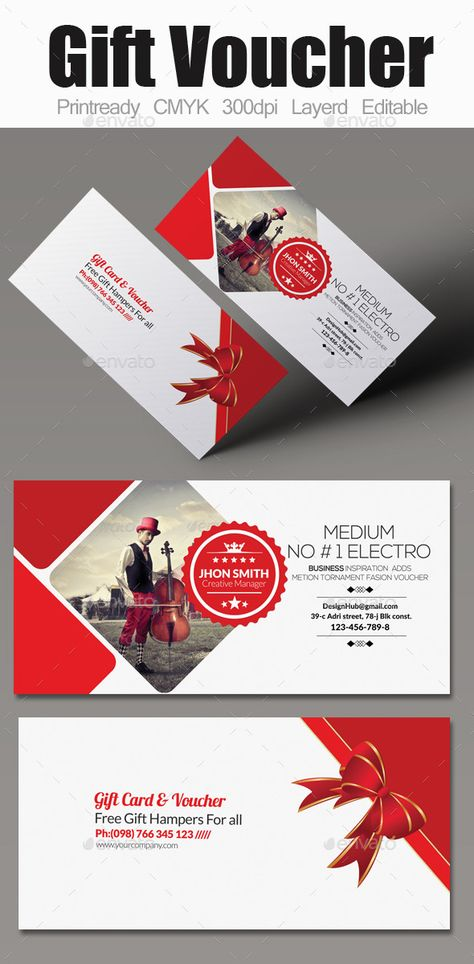 Multi Use Business Gift Voucher Template #design Download   - design gift vouchers free