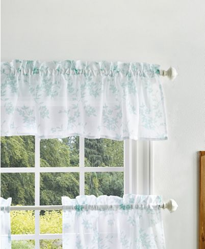 Martha Stewart Collection Bellefield Floral Valance Tiers Set Reviews Window Treatments Blinds Macy S In 2021 Curtains
