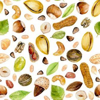 Conjunto De Grunge Pancartas De Colores Con Nueces De Almendra De Pistacho Aislado En Bla Mix De Frutos Secos Diseno De Envases Para Alimentos Fondos De Frutas