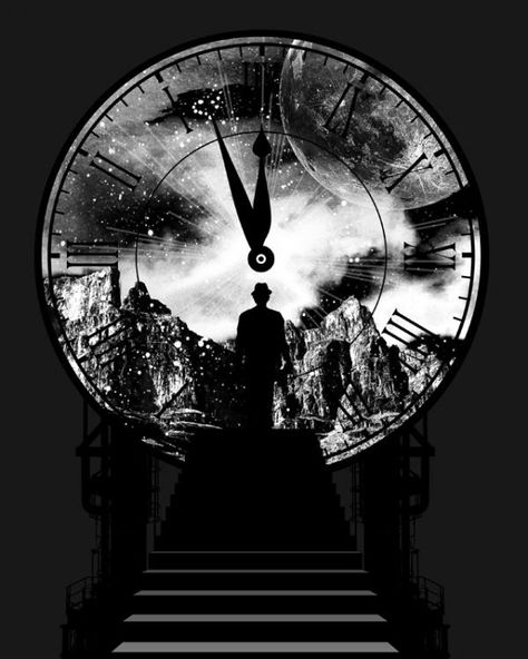 You might be surprised to know that Father Time was not, in fact, an old man. Actually, he was rather young, and if it weren't for the odd 20th century bowler hat he insisted upon wearing at all times, you would never have noticed anything odd about him at all, other than the fact that he had a remarkable fondness for clocks, and liked to pet them and talk to them wherever he went. --- K. E. Fitzgerald