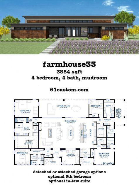 32++ Contemporary farmhouse plans model