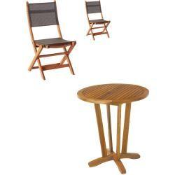 Gartenmobel Set Safari Da Nang 1 Tisch 2 Klappstuhle Danisches