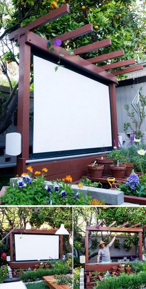 20 Cool DIY Yard Furniture Ideas 2019 Build an Outdoor Theater in Your Yard. The post 20 Cool DIY Yard Furniture Ideas 2019 appeared first on Backyard Diy.