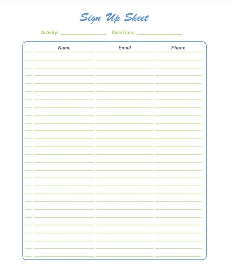 Sign In Sheet Templates Youth Group Rocks! Pinterest - event sign in sheet template