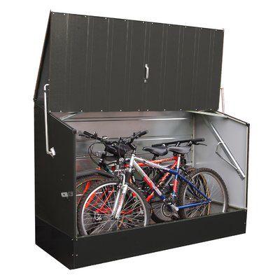 6 5 Ft W X 3 Ft D Metal Horizontal Bike Shed Bike Shed Bicycle Storage Wooden Storage Sheds
