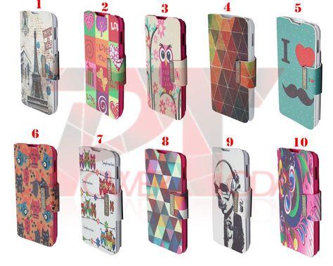 3165f678dd0 Funda Cuero Libro Con Soporte Dibujos Para BQ aquaris 5 HD / Fnac Phablet 5  HD